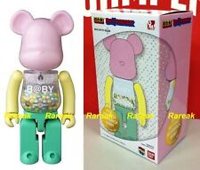 Medicom Be@rbrick My First Baby Alloyed 200% Chogokin Pink & Green Bearbrick