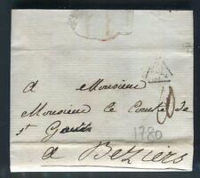 France - Lettre avec texte de Paris pour Béziers en 1780 - ref D340