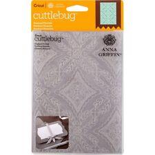 "Cricut Cuttlebug DIAMOND FLOURISH 2003459 Embossing Folder 5"" x 7"""