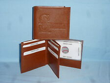 SEATTLE MARINERS   Leather BiFold Wallet    NEW    brown 4 +