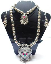 NEW KUCHI TRIBAL OXIDIZED LONG NECKLACE BELLY DANCE VINTAGE JEWELRY AFGHAN GYPSY