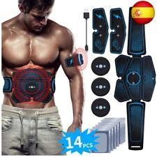 RIRGI Electroestimulador Muscular Abdominales,Electroestimulador Muscular (Azul)