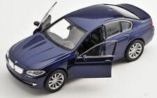 BLITZ VERSAND BMW 535i dunkel blau met. / blue Welly Modell Auto 1:34 NEU & OVP