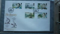 ISLE OF MAN STAMP ISSUE FDC, 1989 THE BOUNTY MUTINY SET OF 5 STAMPS