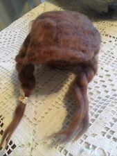 Antique Vintage Unmarked Doll Wig Fir 10�head Pig Tails