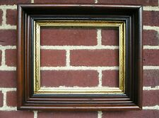 Deep Victorian Black Trimmed Picture Frame Designed Gilt 8 x 10 Looks its age