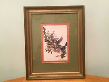 Lee Adams (American Artist) Blue Birds Art Print-Gold Frame-Signed-