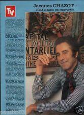 Coupure de presse Clipping 1978 Jacques Chazot   (1 page)