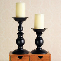 New Candlestick Vintage Black Iron Single Candle Holder Home Dining Room Decor
