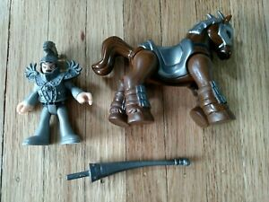 Imaginext Fisher Price Castle Jousting Knight Figure & Brown Horse