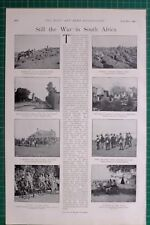 1900 BOER WAR SOUTH AFRICA MAXIM GUN PARTY DEELFONTEIN STATION IMPERIAL YEOMANRY