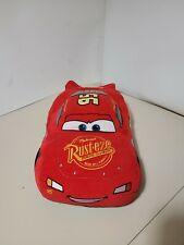 "16"" x 9"" plush corteroid Lightning McQueen from Cars pillow, good condition"