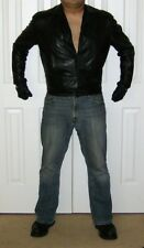 Gianni Versace Black Leather Slim-cut Shirt XL