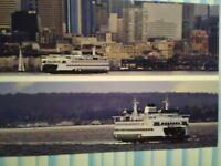 amazing PHOTO POST CARD THE MARK 4 CLASS WASHINGTON STATE FERRIES SEATTLE WA.