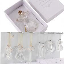 Stunning Crystal Glass Hanging Guardian Angel Tree Ornament Suncatcher