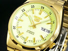Seiko 5 Automatic Mens Watch Golden Lumibrite Dial Japan SNK578J1 UK Seller