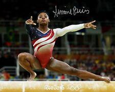 Simone Biles US Gymnastics Gold Medal Rio Olympics Signed 8X10 Photo Rp Champion