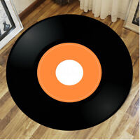 Vinyl Record Printed Round Floor Mat Carpet Yoga Rug Living Room Area Home