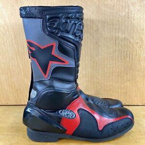 Alpinestars GPS Motorcycle Racing Boots Men's Size 9.5 Black/Red