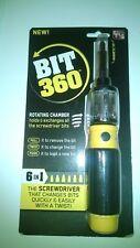 Bit 360 Twist-Bit Twist Bit Screwdriver w/6 Bits Flat/Slotted/Phillips - New!