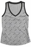 CHAMPION Heritage V-neck repeated logo women's tank top - Gray/Black - S, M