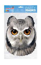 Owl Animal Face Party Mask Card A4 Fancy Dress Ladies Men Kids Bird Nature Zoo