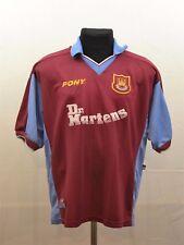 1998-1999 PONY West Ham United Centenary HAMMERS Dr. Martens HOME Shirt L Large