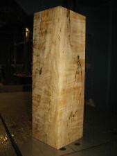 FIGURED BIG LEAF SPALTED MAPLE WOOD TURNING LUMBER 4 x 4 x 13-3/4 VASE BLANK