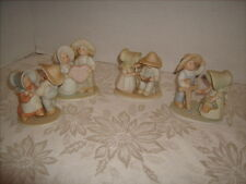4 Circle Of Friends HOMCO Figurines- Love Jesus - Family Hour- I Believe & Dance