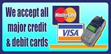 Signo de tarjeta de crédito al aire libre banner signos Shop Vinilo Banners PVC