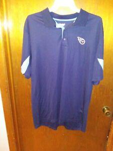 NFL Tennessee Titans Blue Golf Polo Shirt by Reebok xXL