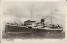 Steamship Rotterdam Lloyd MS Baloeran c1920 Real Photo Postcard