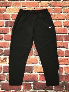 Nike Run Flex Waist Womens Medium 7/8 Lightweight Thin Pants Black 928605-010