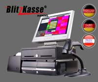 MODERNE KASSENSYSTEM COMPUTERKASSE für HANDEL +TOUCH + DRUCKER +SCANNER + LADE
