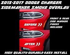 2015 - 2018 Dodge Charger Side Marker Reflector Smoke Overlay Tint Pre Cut