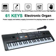 More details for musical keyboard piano 61 keys electronic electric digital beginner kids uk