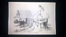 Incisione d'allegoria e satira Italia spegne ragioni d'Austria Don Pirlone 1851