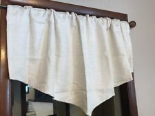 Jcp Home Quinn Basketweave Rod Pocket/Back Tab Ascot Valance 50 W x 25 L Ivory