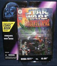 Star Wars Shadows of the Empire Boba Fett vs. IG-88 Action Figures NIB