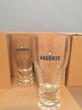 NIB Rare Absente Absinthe Drinking Glasses Set of 6 with Spoon (2 available)