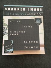 Sharper Image Light Up Electronic Word Clock NIB