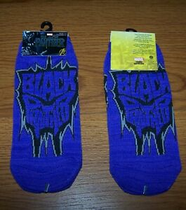Size 4-10 Youth Marvel Black Panther No-Show Socks (Lot of 4 Pr.)
