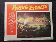 1951 PEKING EXPRESS Lobby Card #4 FN- Joseph Cotten, Corinne Calvet