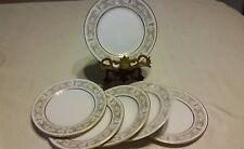 Yamaha fine china cambridge japan white gold  set of 6  desert  plates