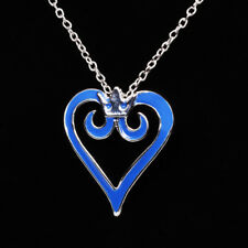 Kingdom Hearts Pendant & Pouch New Cosplay Rare Necklace Hot Heart Kingdom 2 3
