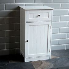Best Bathroom Cupboard 1 Door 1 Drawer Floor Standing Cabinet Unit Storage White