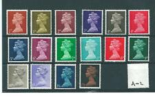 GB - MACHIN DEFINITIVES - PRE DECIMAL -A02- 16 VALUES - UNMOUNTED MINT