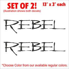 "Rebel Car/Truck Setof2 Decals Stickers (13.5""x3"") WOW!"