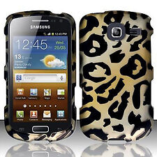 For Samsung Freeform 4 R390 Rubberized HARD Case Snap On Phone Cover Cheetah