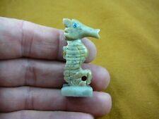 (Y-SEAH-WB-10) SEA HORSE TAN seahorse dragon carving stone SOAPSTONE seahorses